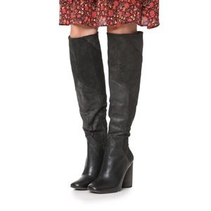 NWOT Free People Bright Lights Patchwork Tall Boot